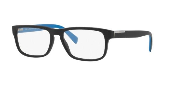 Frames Mens Prada Rectangular Full Rim Glasses in Black ...