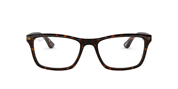 Frames | Men\'s Ray-Ban Square Full Rimmed Glasses in Tortoise ...