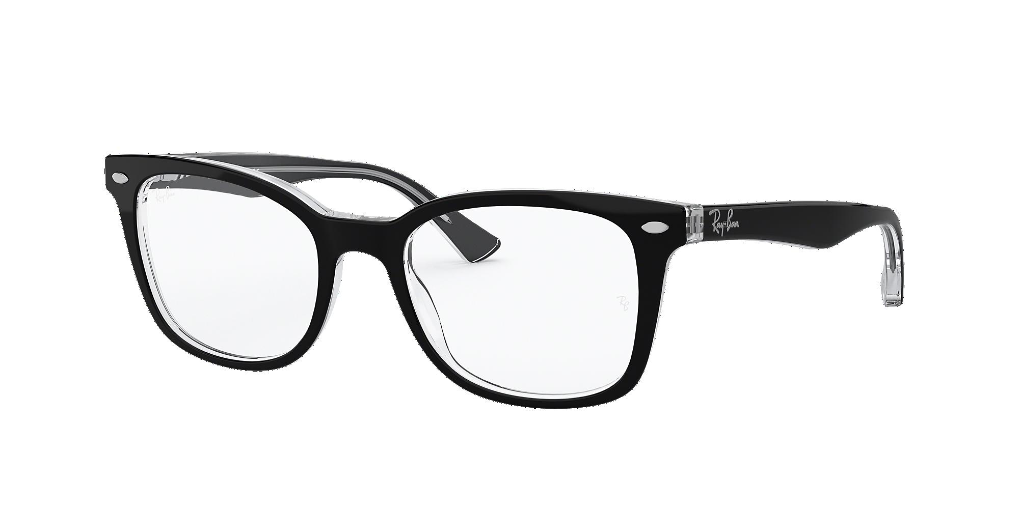 frames s ban rectangular glasses in black